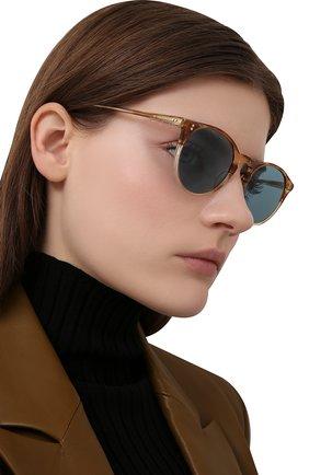 Женские солнцезащитные очки OLIVER PEOPLES светло-коричневого цвета, арт. 5183S-1674P1 | Фото 2