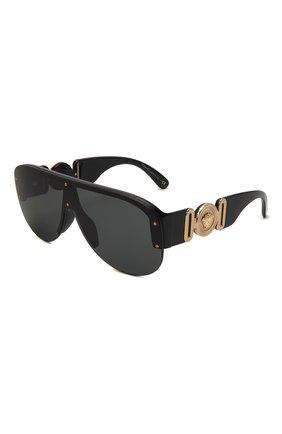 Женские солнцезащитные очки VERSACE черного цвета, арт. 4391-GB1/87 | Фото 1