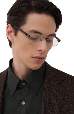 Мужские оправа LONGINES черного цвета, арт. LG5006-H 002 | Фото 2