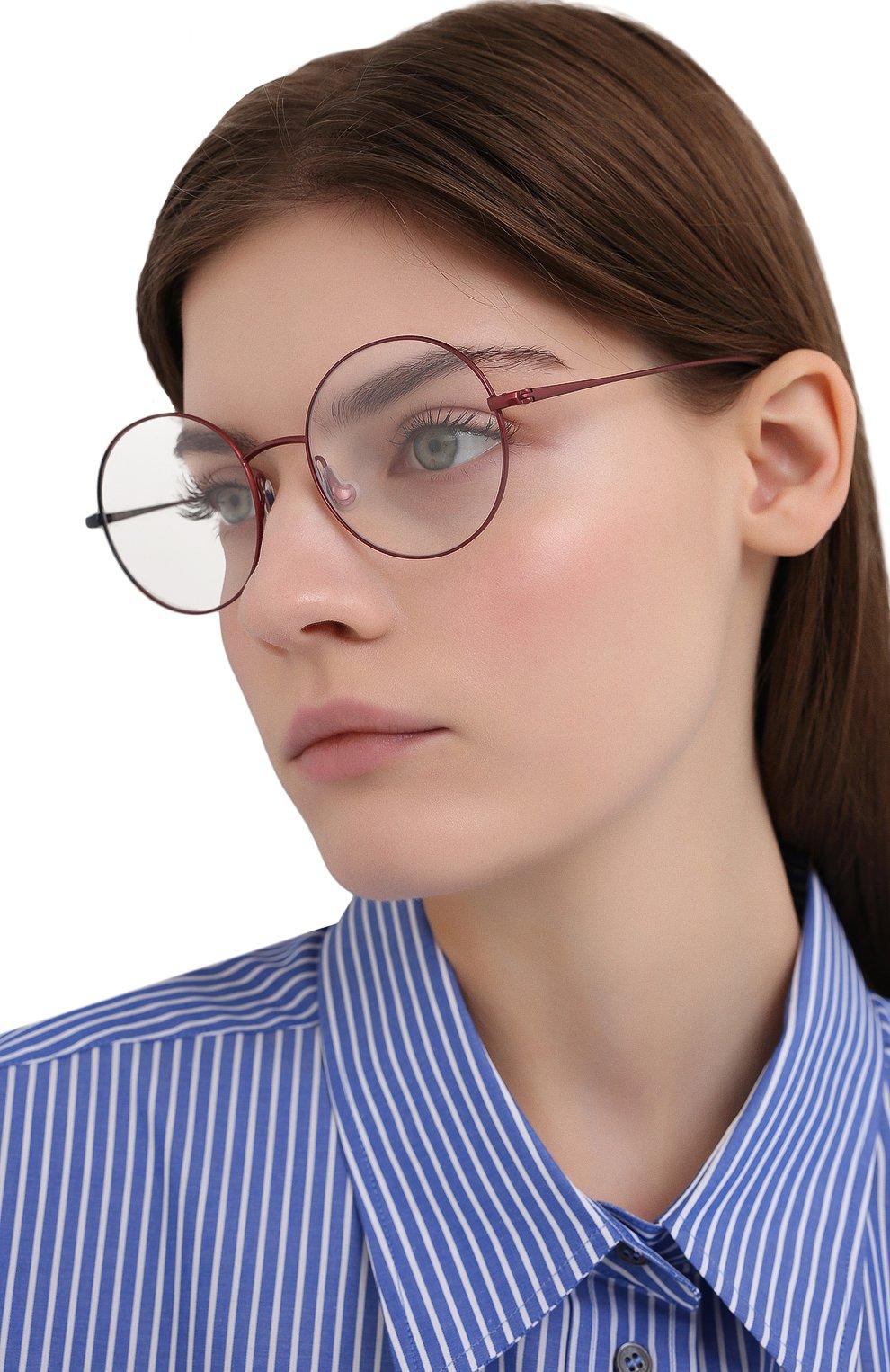 Женские оправа CAROLINE ABRAM красного цвета, арт. VENUS 593 | Фото 2 (Оптика Гендер: оптика-женское; Очки форма: Круглые; Тип очков: Оправа)