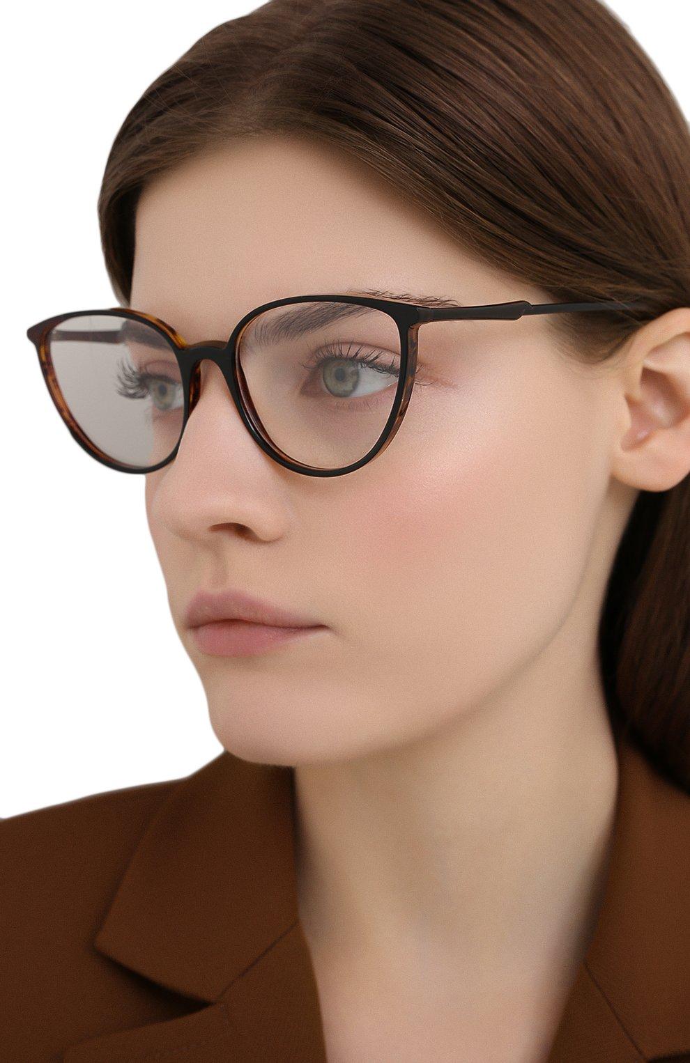 Женские оправа CAROLINE ABRAM коричневого цвета, арт. C0RALIE 671 | Фото 2 (Тип очков: Оправа; Оптика Гендер: оптика-женское; Очки форма: Cat-eye)