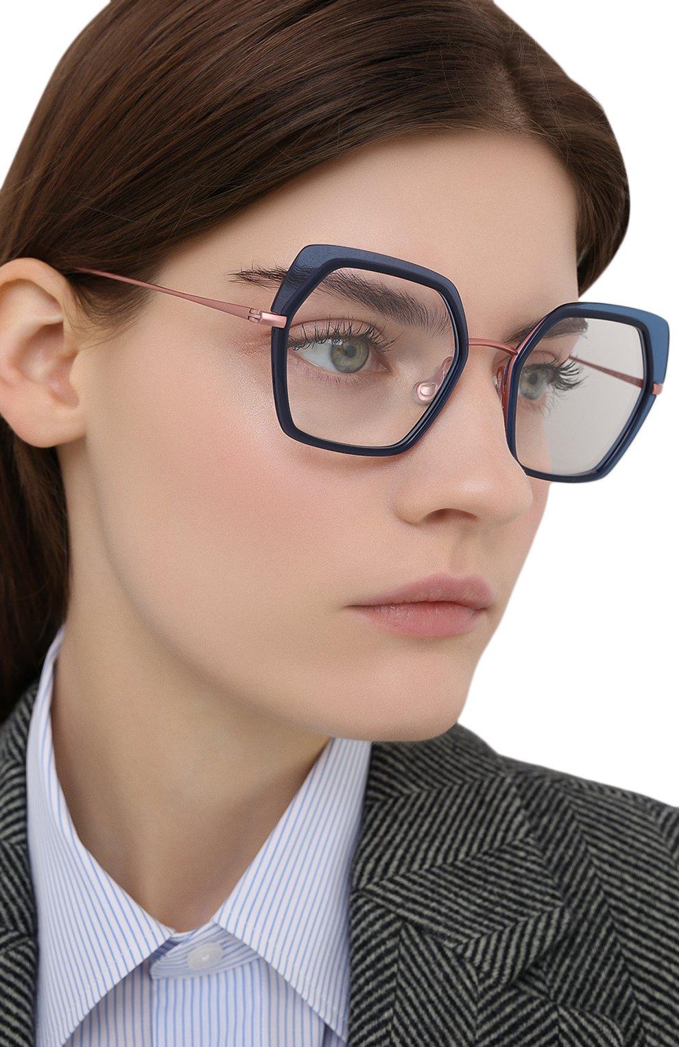 Женские оправа CAROLINE ABRAM синего цвета, арт. WILI 601   Фото 2 (Тип очков: Оправа; Оптика Гендер: оптика-женское; Очки форма: Креативные, Бабочка)