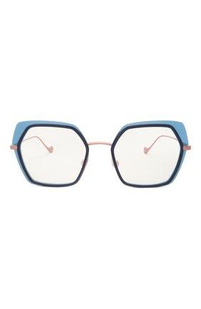 Женские оправа CAROLINE ABRAM синего цвета, арт. WILI 601   Фото 3 (Тип очков: Оправа; Оптика Гендер: оптика-женское; Очки форма: Креативные, Бабочка)