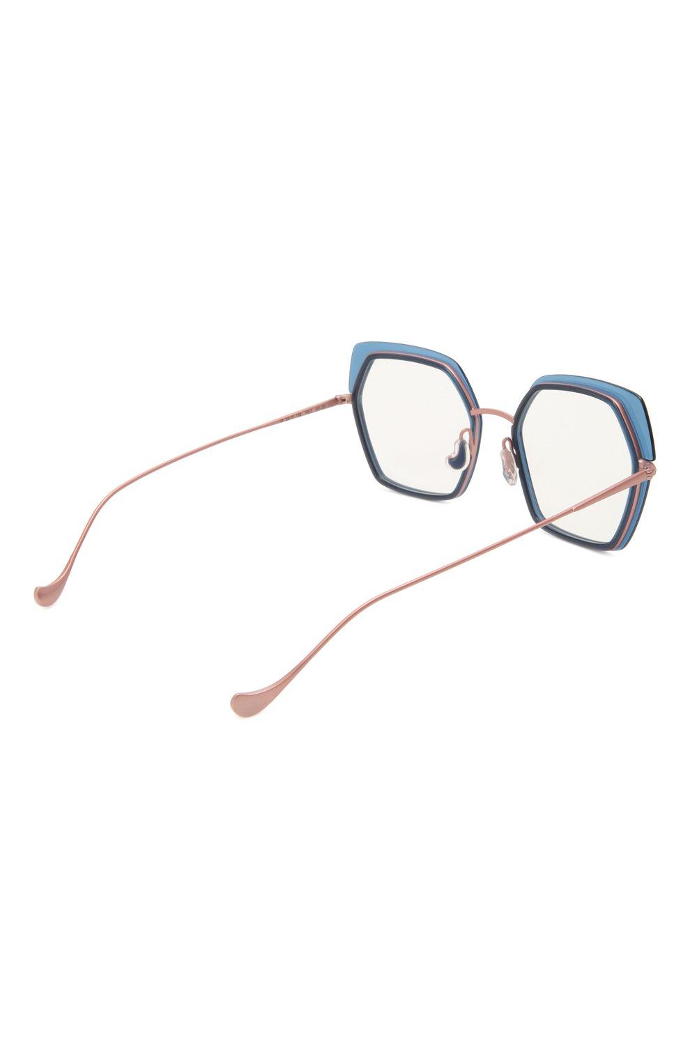 Женские оправа CAROLINE ABRAM синего цвета, арт. WILI 601   Фото 4 (Тип очков: Оправа; Оптика Гендер: оптика-женское; Очки форма: Креативные, Бабочка)