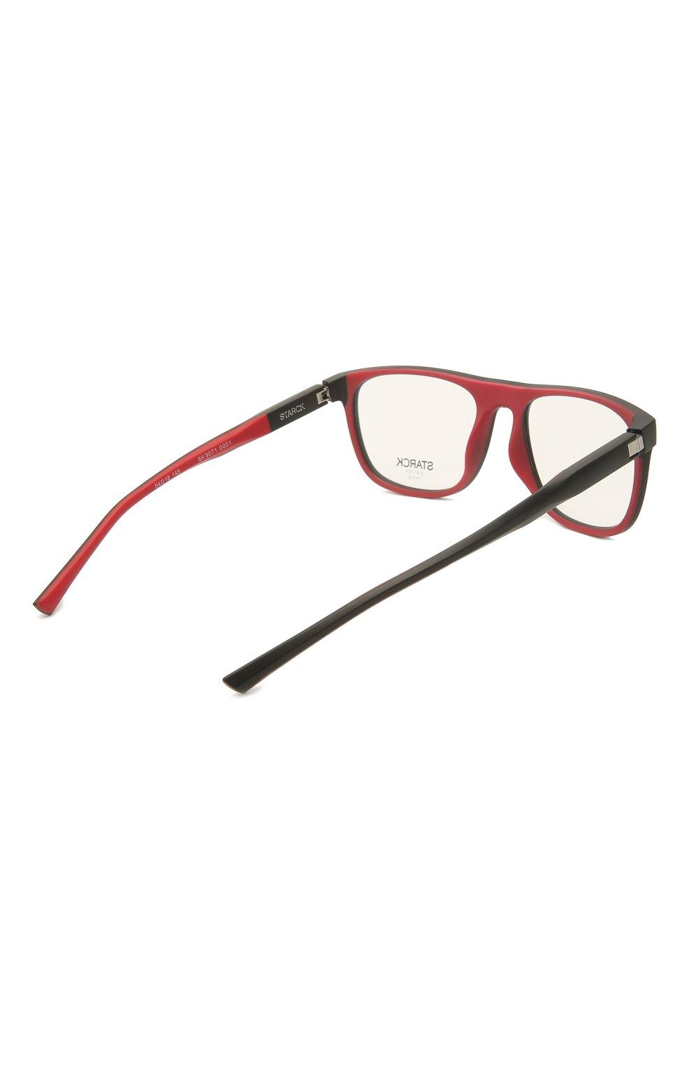 Мужские оправа STARCK EYES черного цвета, арт. 3071-0001 | Фото 4 (Очки форма: Прямоугольные; Оптика Гендер: оптика-мужское)