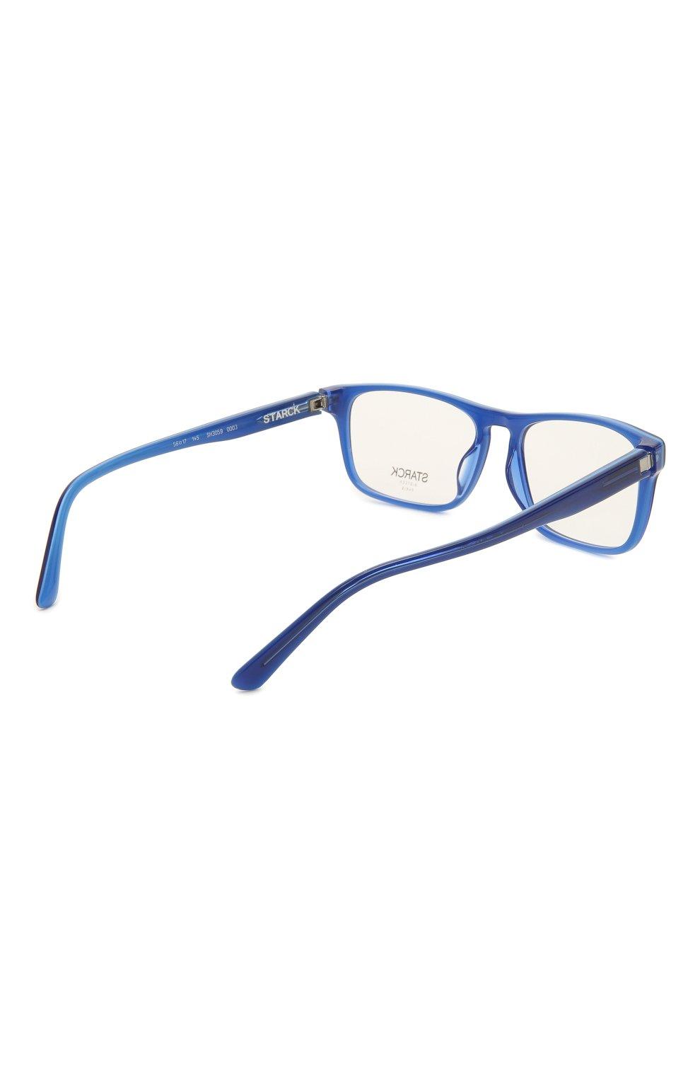 Мужские оправа STARCK EYES синего цвета, арт. 3059-0003 | Фото 4 (Тип очков: Оправа; Очки форма: Прямоугольные; Оптика Гендер: оптика-мужское)