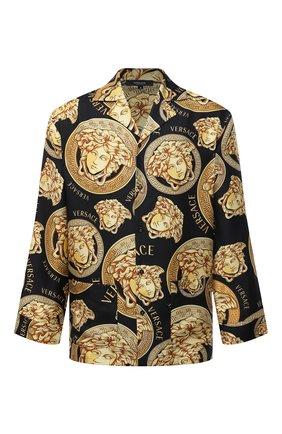 Мужская шелковая сорочка VERSACE золотого цвета, арт. AUU05060/1F00596 | Фото 1