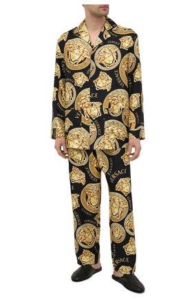 Мужская шелковая сорочка VERSACE золотого цвета, арт. AUU05060/1F00596 | Фото 2