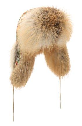 Женская шапка-ушанка дарья из меха лисы FURLAND бежевого цвета, арт. 0194809610001600208   Фото 1