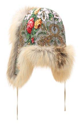 Женская шапка-ушанка дарья из меха лисы FURLAND бежевого цвета, арт. 0194809610001600208   Фото 2