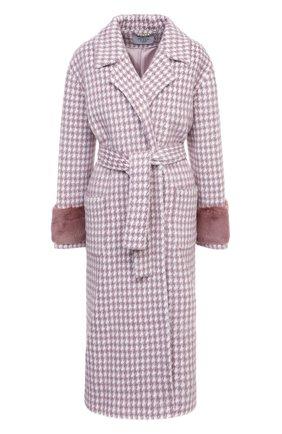 Женское шерстяное пальто SEVEN LAB розового цвета, арт. CL20-MP houst rose | Фото 1