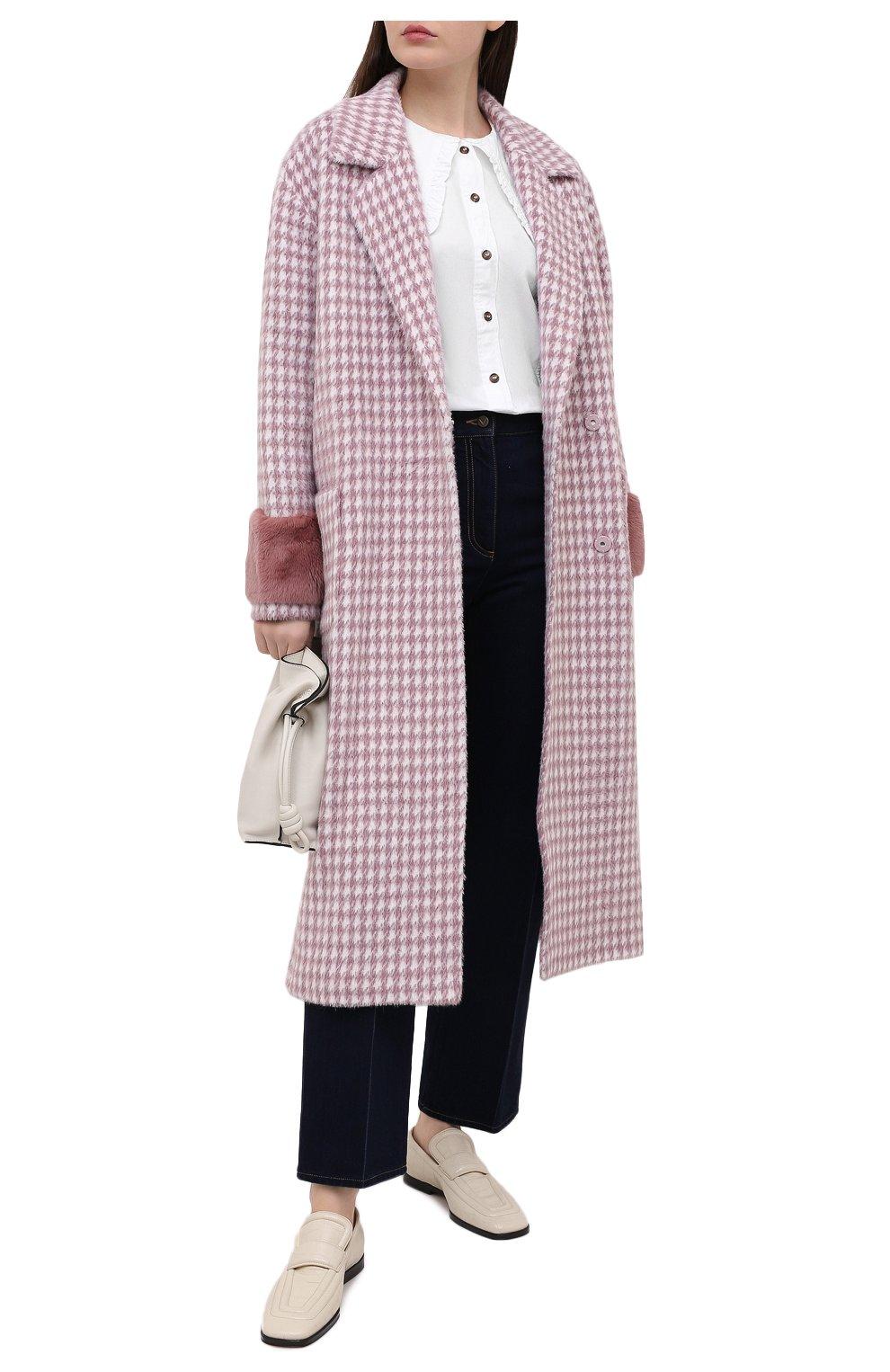 Женское шерстяное пальто SEVEN LAB розового цвета, арт. CL20-MP houst rose | Фото 2