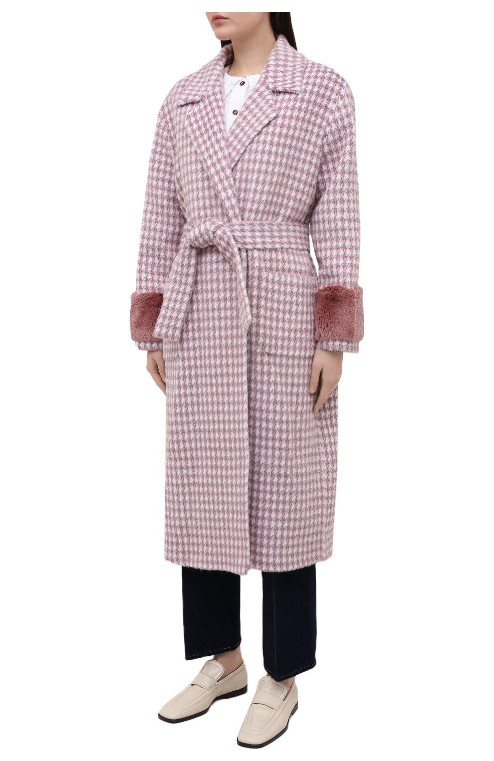 Женское шерстяное пальто SEVEN LAB розового цвета, арт. CL20-MP houst rose | Фото 3