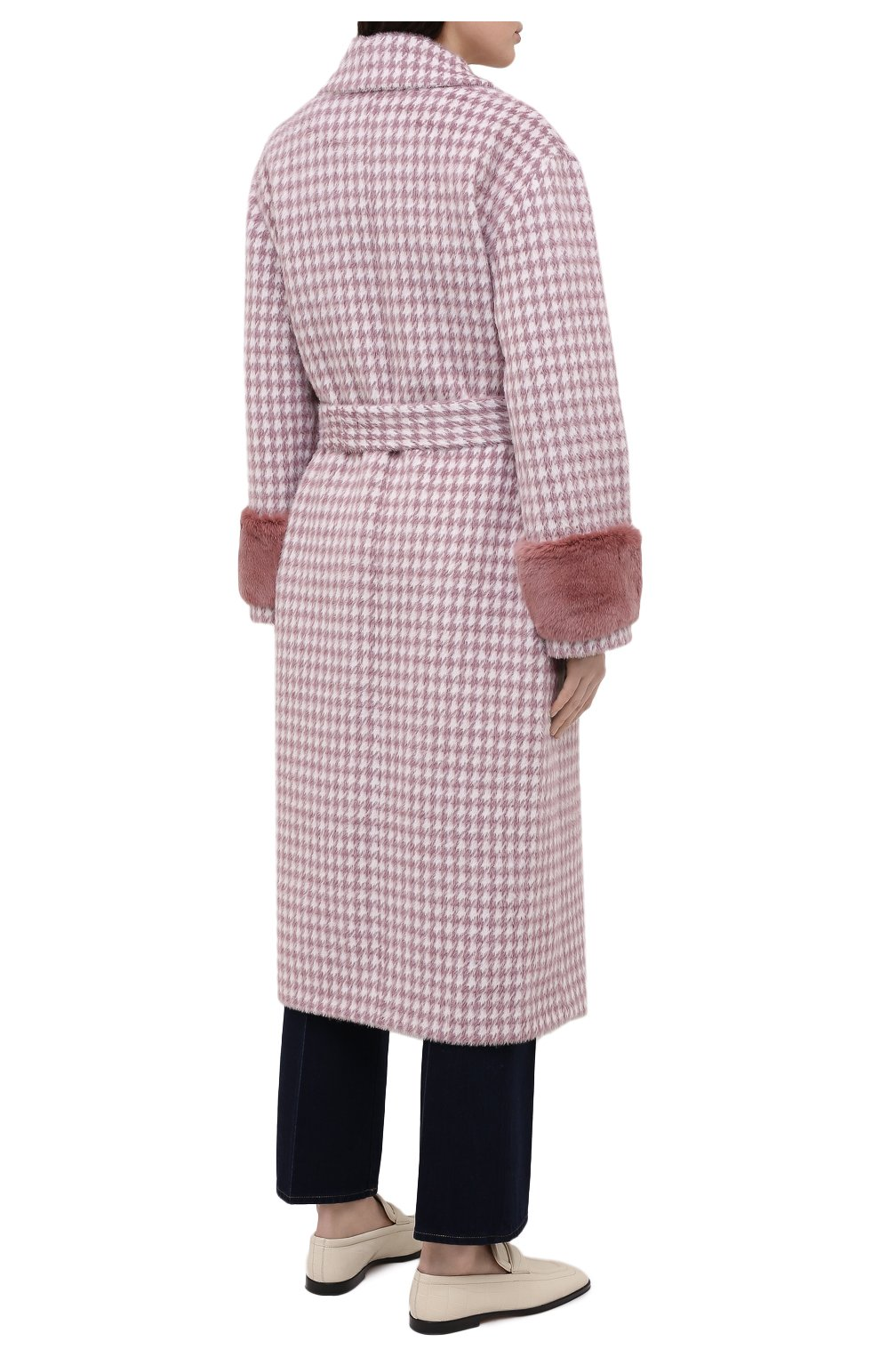 Женское шерстяное пальто SEVEN LAB розового цвета, арт. CL20-MP houst rose | Фото 4