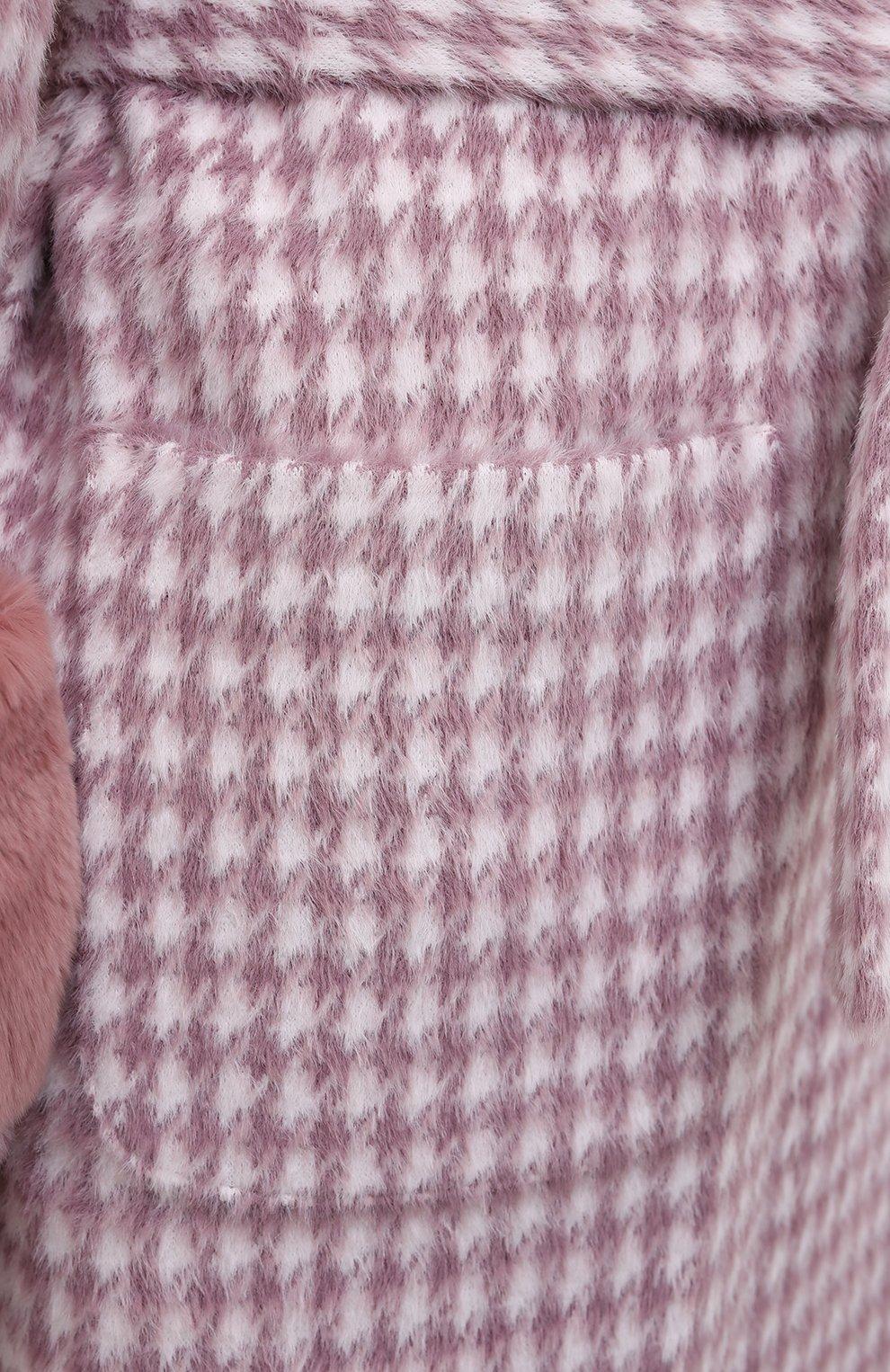 Женское шерстяное пальто SEVEN LAB розового цвета, арт. CL20-MP houst rose | Фото 5
