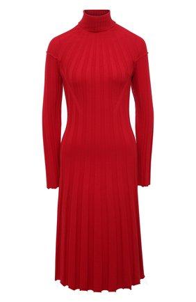 Женское шерстяное платье JUNYA WATANABE красного цвета, арт. JF-N001-051   Фото 1