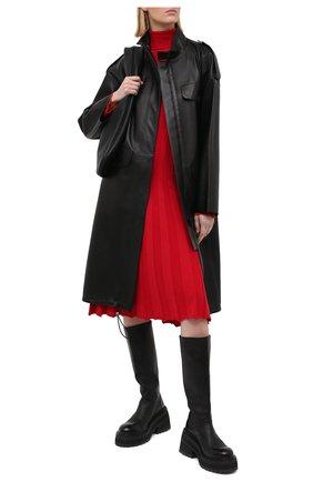 Женское шерстяное платье JUNYA WATANABE красного цвета, арт. JF-N001-051   Фото 2