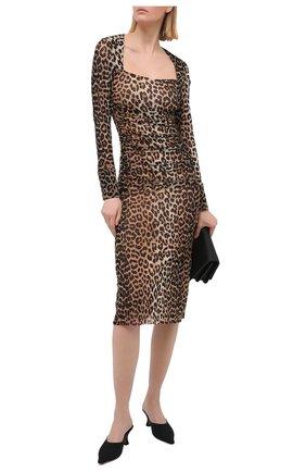 Женское платье GANNI леопардового цвета, арт. T2718 | Фото 2