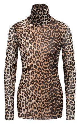 Женская водолазка GANNI леопардового цвета, арт. T2702 | Фото 1