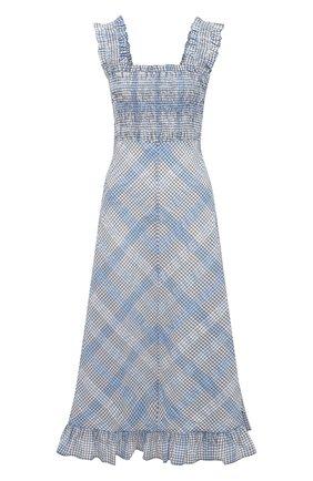 Женское платье GANNI голубого цвета, арт. F5925 | Фото 1