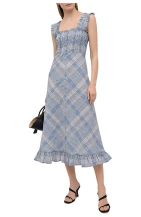 Женское платье GANNI голубого цвета, арт. F5925 | Фото 2