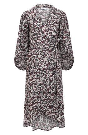 Женское платье из вискозы GANNI темно-серого цвета, арт. F5762 | Фото 1
