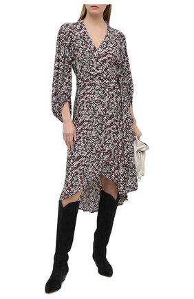 Женское платье из вискозы GANNI темно-серого цвета, арт. F5762 | Фото 2