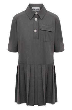 Женское платье GANNI серого цвета, арт. F5683 | Фото 1