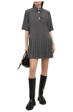 Женское платье GANNI серого цвета, арт. F5683 | Фото 2