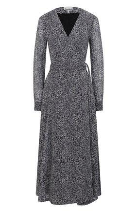 Женское платье из вискозы GANNI темно-серого цвета, арт. F5599 | Фото 1