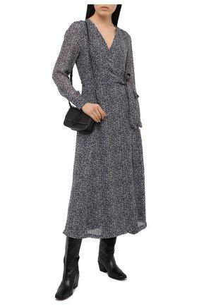 Женское платье из вискозы GANNI темно-серого цвета, арт. F5599 | Фото 2