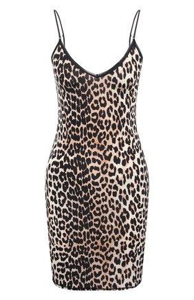 Женское платье из вискозы GANNI леопардового цвета, арт. A2623 | Фото 1