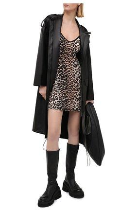 Женское платье из вискозы GANNI леопардового цвета, арт. A2623 | Фото 2