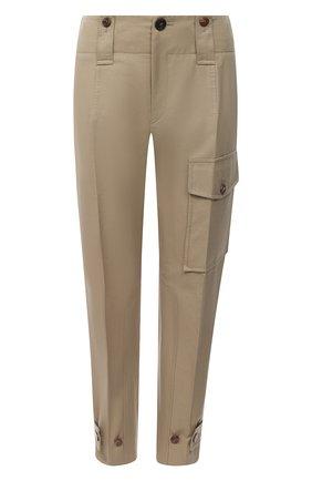 Женские хлопковые брюки CHLOÉ бежевого цвета, арт. CHC21SPA41047 | Фото 1
