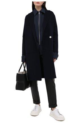 Женское кашемировое пальто KITON темно-синего цвета, арт. D51609DK05I38 | Фото 2
