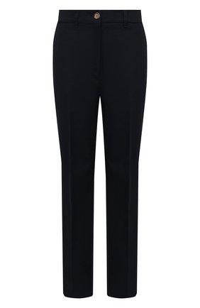 Женские хлопковые брюки MONCLER темно-синего цвета, арт. G1-093-2A740-10-54AUL | Фото 1