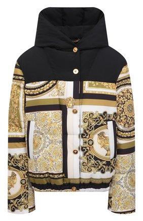Женская пуховая куртка VERSACE золотого цвета, арт. A88471/1F00440 | Фото 1