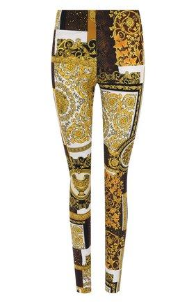 Женские леггинсы VERSACE золотого цвета, арт. A83807/1F00614 | Фото 1
