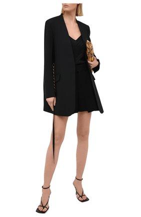 Женский шелковый топ GIVENCHY черного цвета, арт. BW60SL12JB | Фото 2
