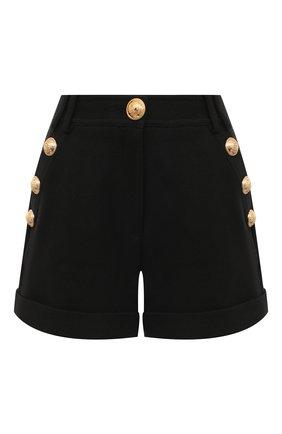 Женские хлопковые шорты BALMAIN черного цвета, арт. VF15010/C208 | Фото 1