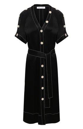 Женское платье из вискозы PROENZA SCHOULER WHITE LABEL черного цвета, арт. WL2113140-BY194 | Фото 1