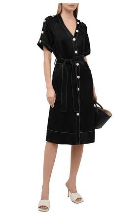 Женское платье из вискозы PROENZA SCHOULER WHITE LABEL черного цвета, арт. WL2113140-BY194 | Фото 2