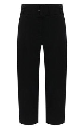 Женские хлопковые брюки PROENZA SCHOULER WHITE LABEL черного цвета, арт. WL2116062-AC115 | Фото 1