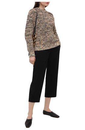 Женские хлопковые брюки PROENZA SCHOULER WHITE LABEL черного цвета, арт. WL2116062-AC115 | Фото 2