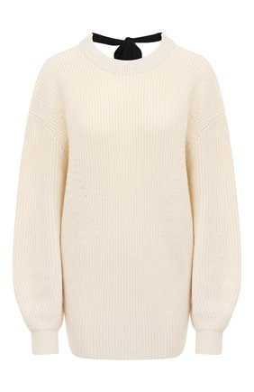 Женский свитер из шерсти и кашемира PROENZA SCHOULER WHITE LABEL кремвого цвета, арт. WL2117561-KW119 | Фото 1