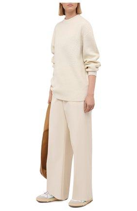 Женский свитер из шерсти и кашемира PROENZA SCHOULER WHITE LABEL кремвого цвета, арт. WL2117561-KW119 | Фото 2