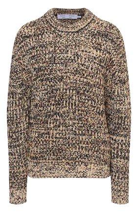 Женский свитер из хлопка и вискозы PROENZA SCHOULER WHITE LABEL бежевого цвета, арт. WL2117566-KC084 | Фото 1