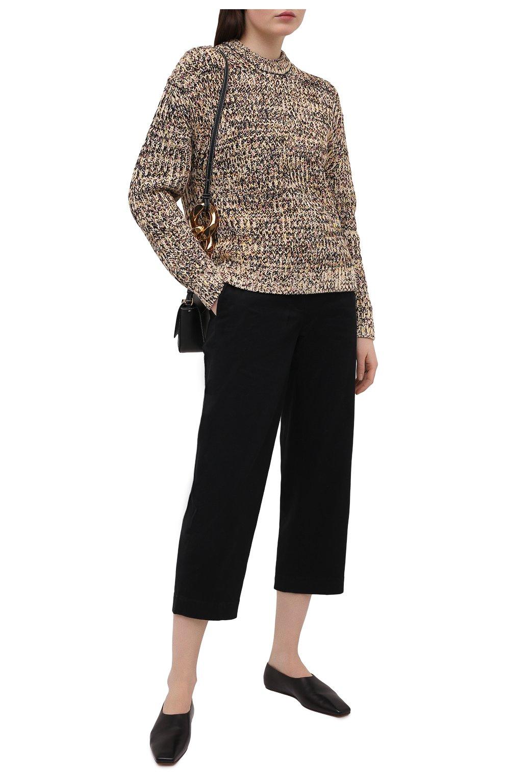 Женский свитер из хлопка и вискозы PROENZA SCHOULER WHITE LABEL бежевого цвета, арт. WL2117566-KC084 | Фото 2