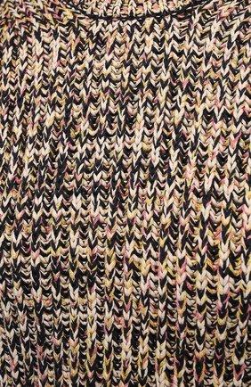 Женский свитер из хлопка и вискозы PROENZA SCHOULER WHITE LABEL бежевого цвета, арт. WL2117566-KC084 | Фото 5