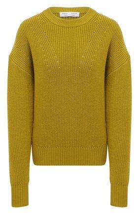 Женский шерстяной свитер PROENZA SCHOULER WHITE LABEL зеленого цвета, арт. WL2117570-KW120 | Фото 1